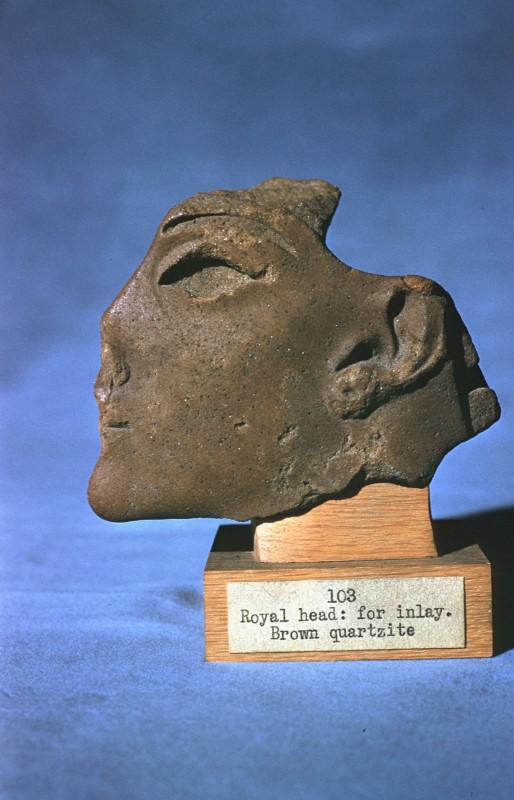 Königskopf als Einlage, Quarzit, H. 7,7 cm