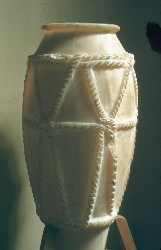 Alabastervase mit Imitation einer Seilumschnürung, Abydos