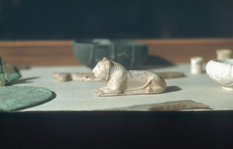 Elfenbeinlöwe von einem Brettspiel, Abu Roasch