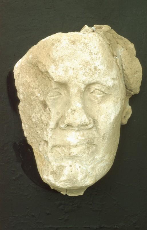 Stuckmaske eines Privatmannes, Modell aus einer Bildhauerwerkstätte