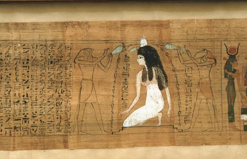 Die Verstorbene von Horus und Thot mit dem belebenden Wasser übergossen, Anschl. re. an 32 802