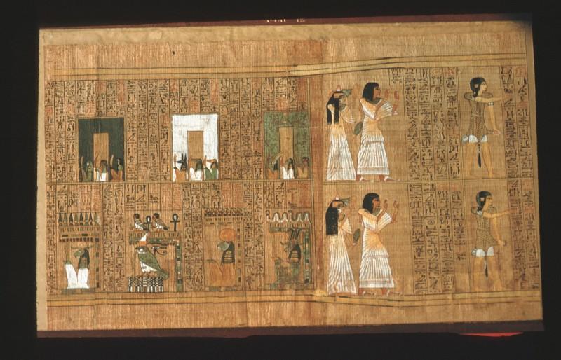 Ani und Tutu nach Durchschreiten der Tore, Priester (Blatt 12)