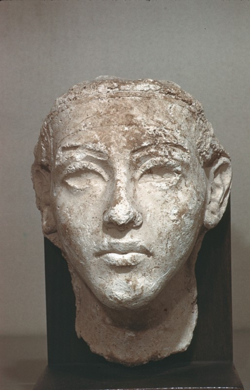 Kopf des Echnaton, Stuck, H. 20 cm