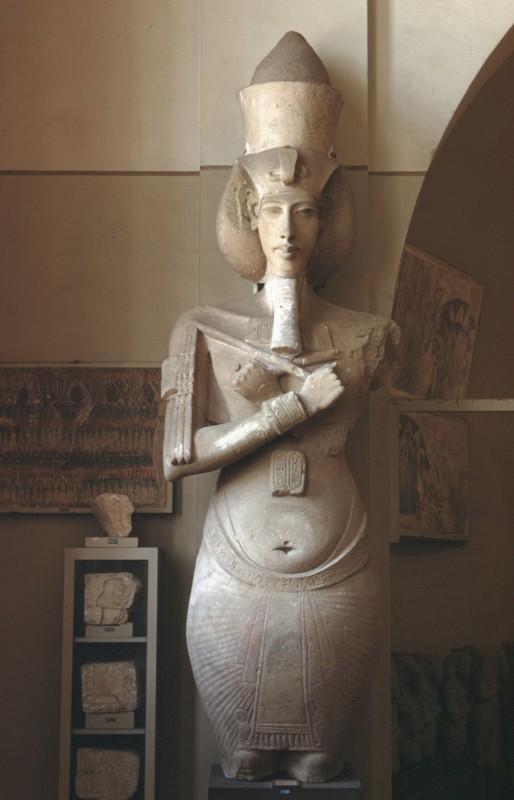 Osirispfeiler des Echnaton, Kalkstein, doppelt lebensgroß, Karnak