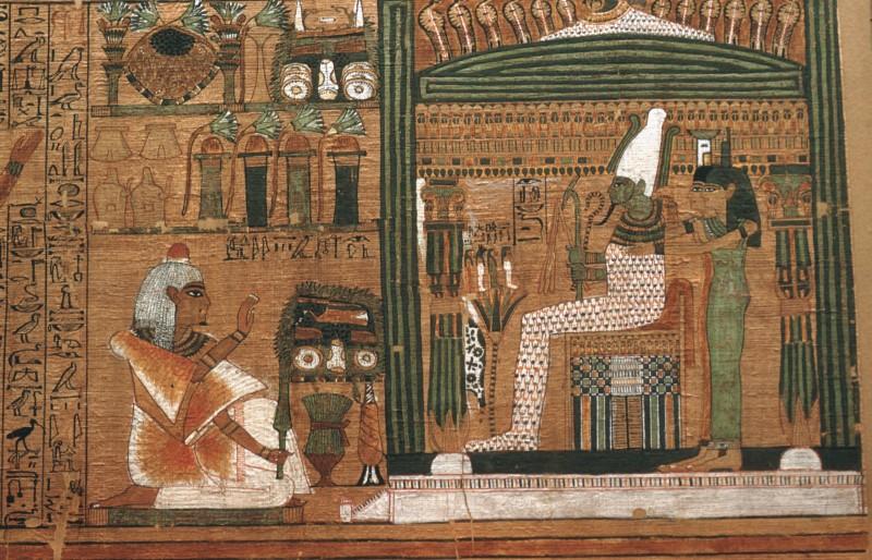 Ani vor dem Totenrichter Osiris, Det. aus 32 827