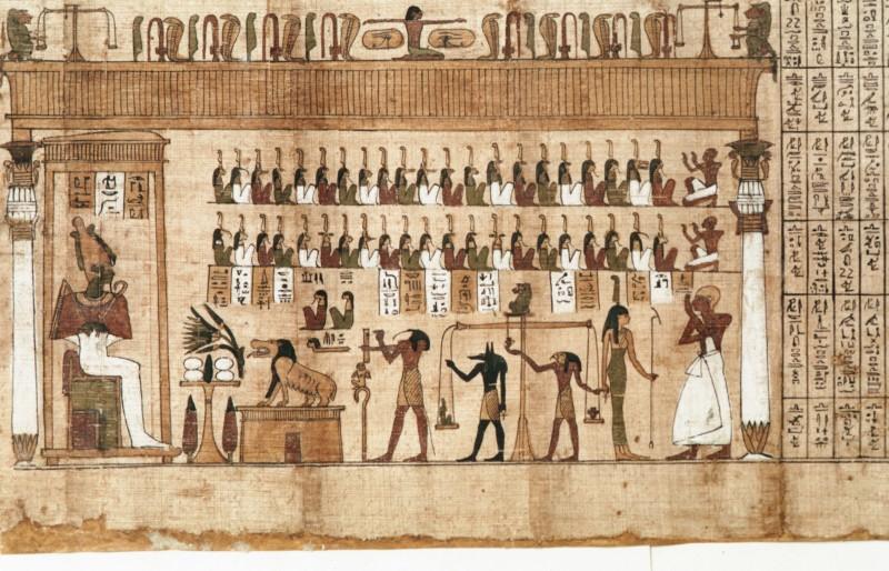 Gerichtshalle, Osiris, 42 Totenrichter, Herzwaage