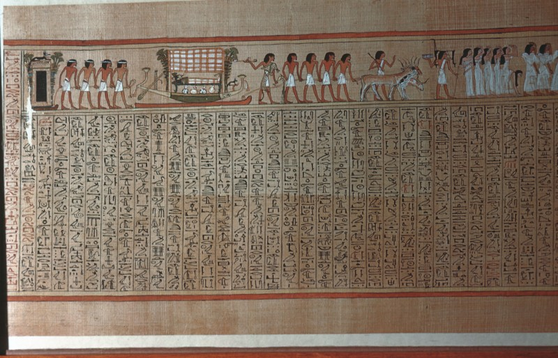 Die Barke mit der Mumie wird auf einem Schlitten zum Grabe gezogen (Blatt 4)