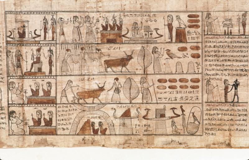 Der Verstorbene in den laru-Gefilden und vor Totengöttern, re. von 32 860