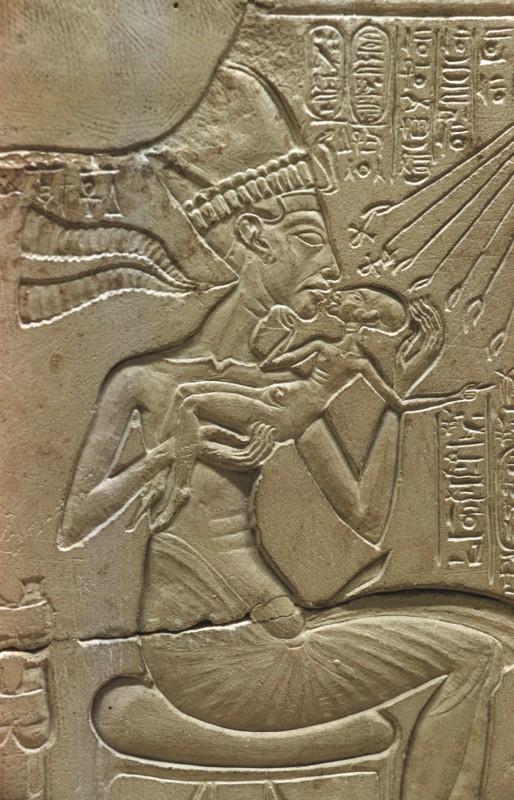 Echnaton mit einer Prinzessin, Det. aus 32 556