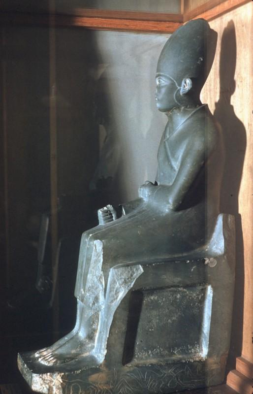 Statue des Königs Chasechem, Schiefer, Hierakonpolis