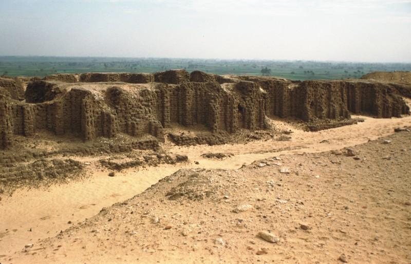 Lehmziegelmauer eines protodynastischen Grabes (Ausgrabung Emery), Sakkara
