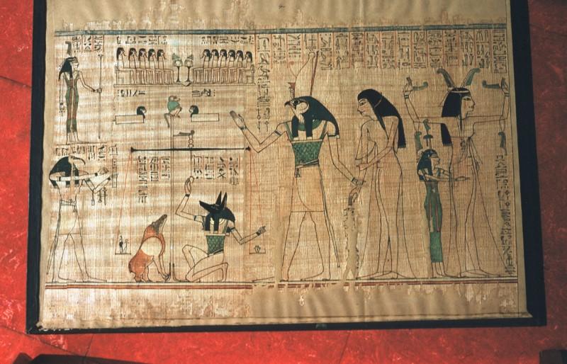 Die Verstorbene von Horus zur Seelenwaage geführt (Blatt 4)