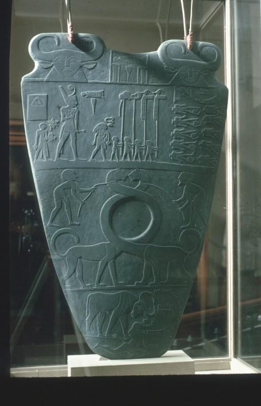 Prunkpalette des Königs Narmer, Schiefer