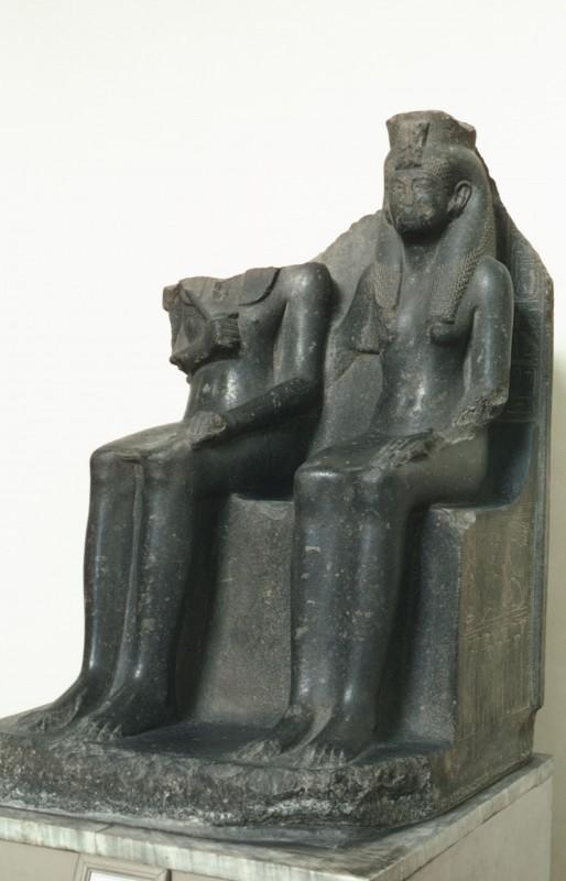Haremhab und seine Gemahlin, H. 129 cm