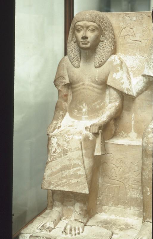 Gruppe des Ehepaares Tschai und Naia, li. Hälfte: Tschai, Kolkstein, H. 90 cm.